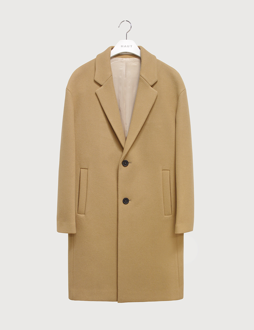 Solid cashmere felt over coat [HC12]