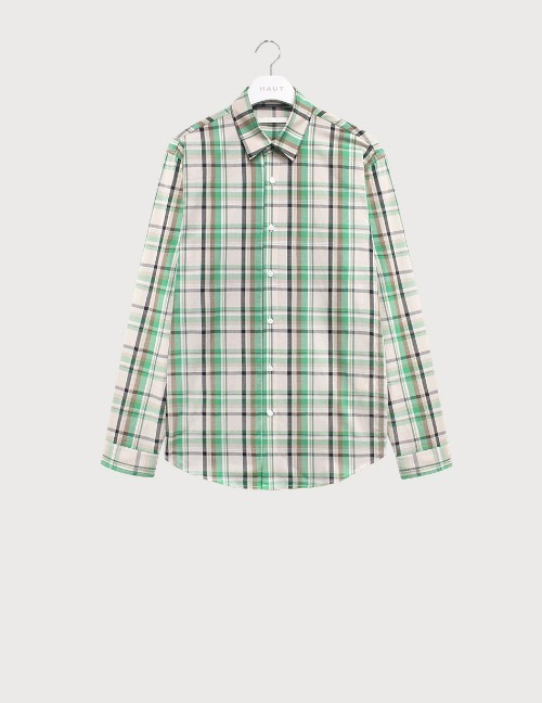 Green mix check shirts [HST20]