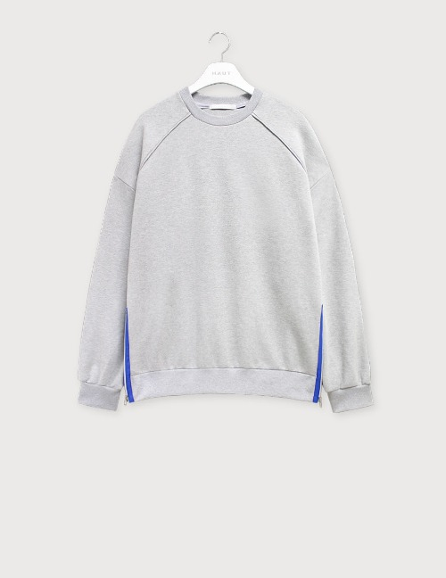 Oversize metallic zipper sweatshirts [HSW12]