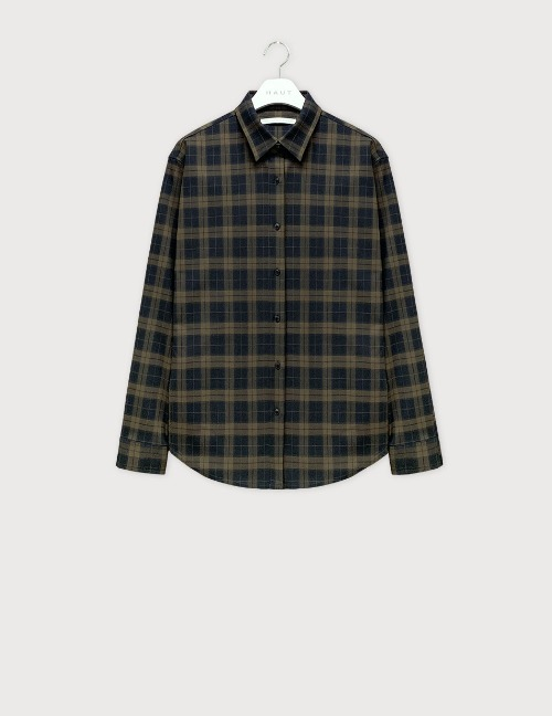 Khaki check shirts [HST22]
