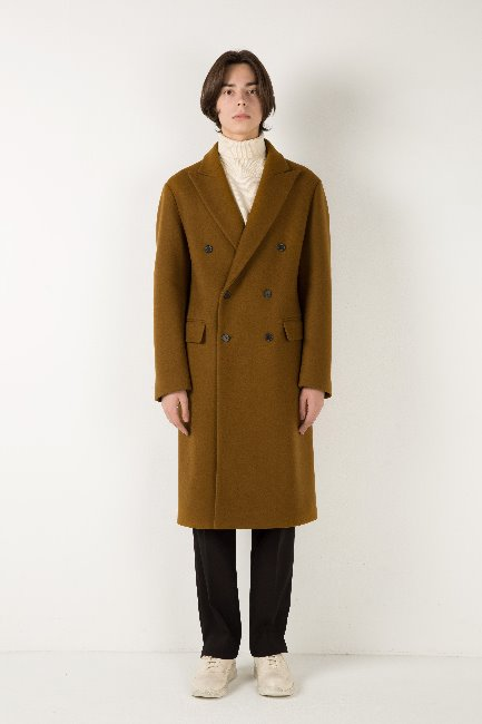 Peaked lapel double coat [HC27]