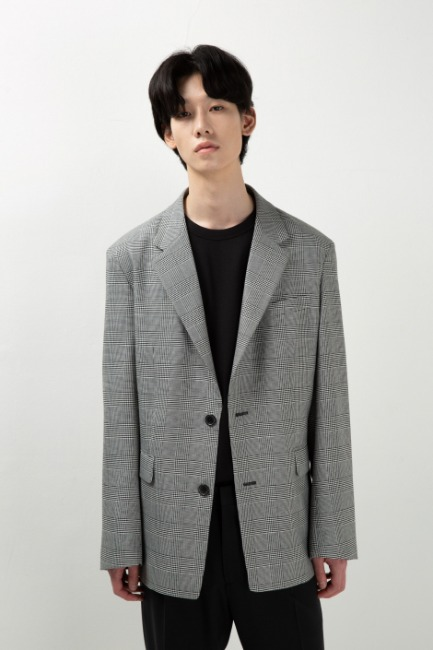 Glen check single jacket [HO20] - Italy
