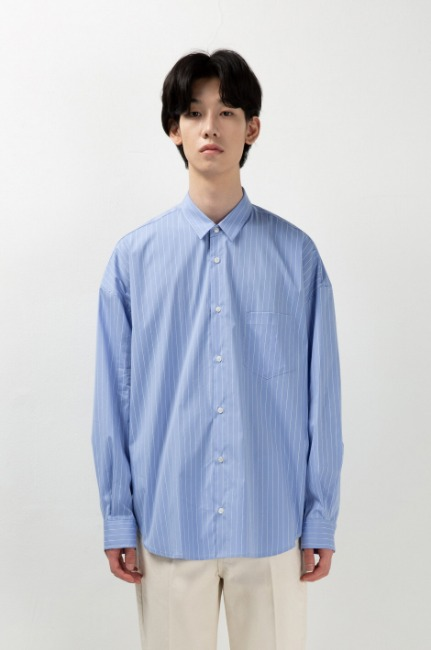 Blue pin stripe over-shirt [HST23]