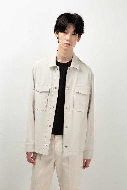 Flap pocket shirt jacket [HO18] - 한섬원단