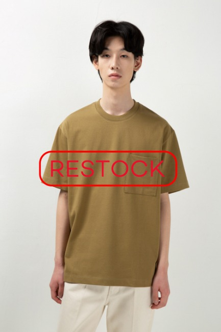 Color Pocket T-shirts [HT48] -블랙컬러추가